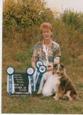 Roo's obedience ribbons